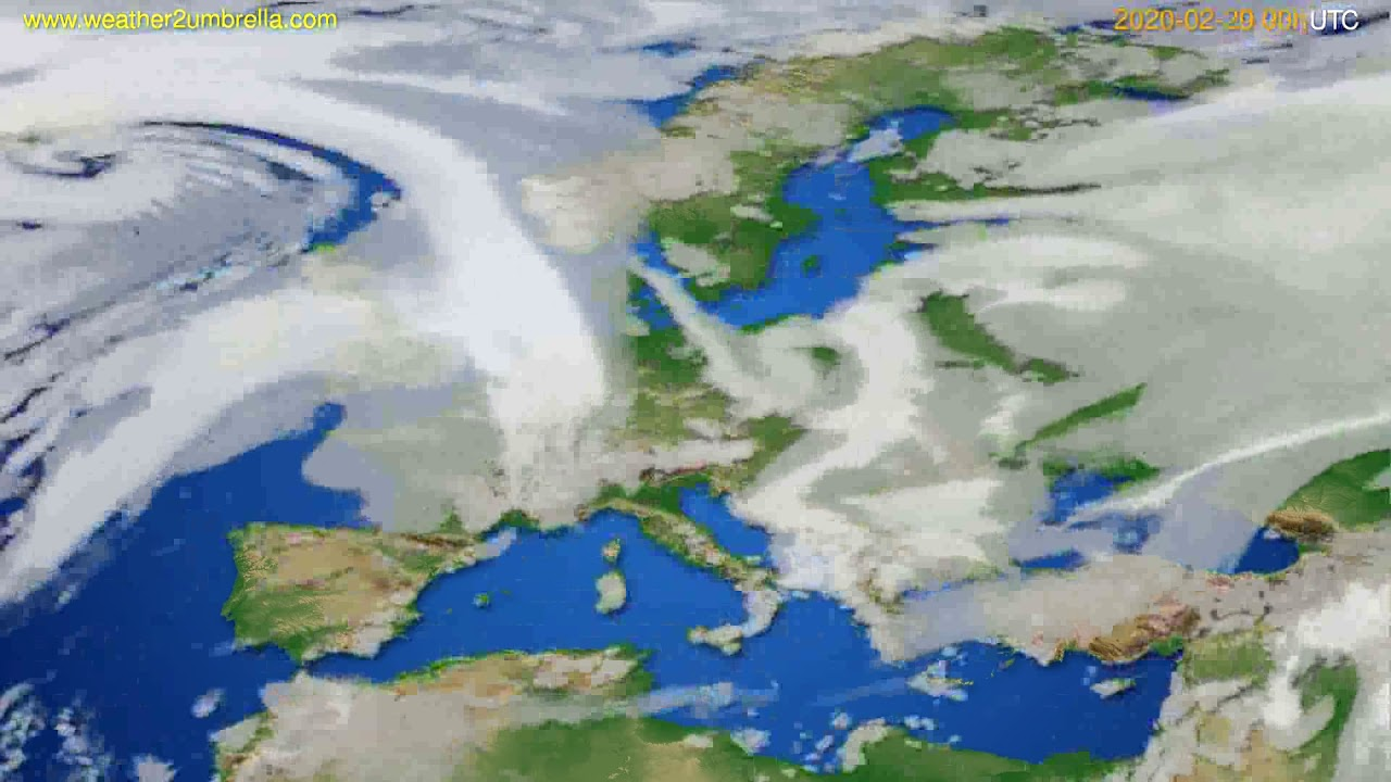 Cloud forecast Europe // modelrun: 00h UTC 2020-02-19