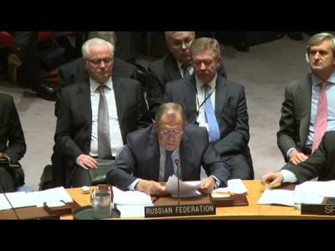 С.В.Лавров на заседании СБ ООН  в поддержку \