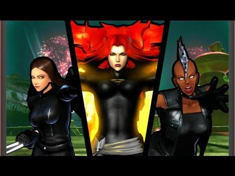 Ultimate Marvel VS Capcom 3 - X-23/Storm/Phoenix - Very Hard Difficulty Playthrough