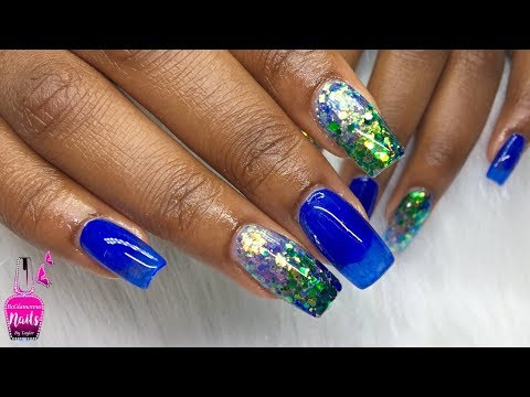 Gel nails - Watch me Work  Acrylic Nails  How to Jelly Nails using Gel Polish