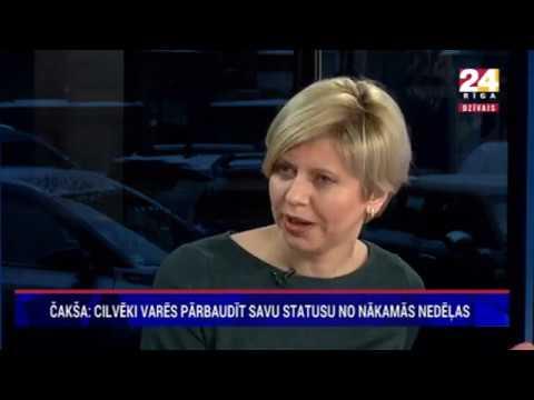 """Veselības ministres Andas Čakšas saruna Rīga TV24 raidījumā """"Dienas personība ar Veltu Puriņu"""""""