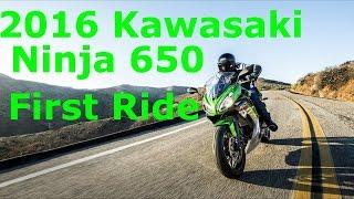7. 2016 Kawasaki Ninja 650 First Ride | Great First Motorcycle