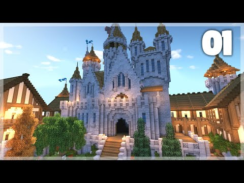 Minecraft: How to Build a Medieval Castle | Huge Medieval Castle Tutorial - Part 1
