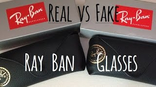 How to tell the difference between real and fake Ray Ban glass...
