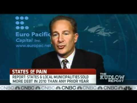 Peter Schiff on CNBC Kudlow Report 12/23/10: Muni Meltdown is Coming