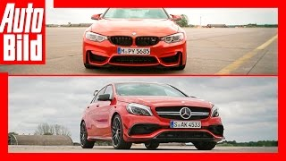 Drag Race BMW M4 vs Mercedes AMG A 45 by Auto Bild
