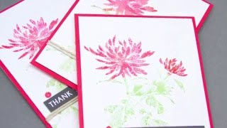 Distress Ink Stamping with Penny Black Florals