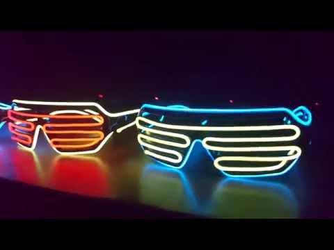 LED Party-Brillen (mehrfarbig / mulitcolor) [FULL HD]