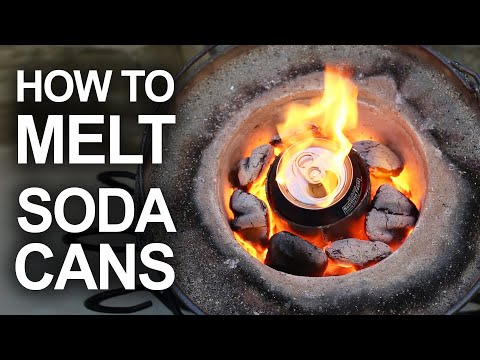 Turning soda cans into liquid metal looks so fun