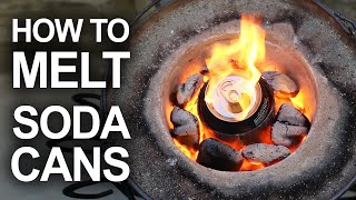Melting Cans With The Mini Metal Foundry by The King of Random