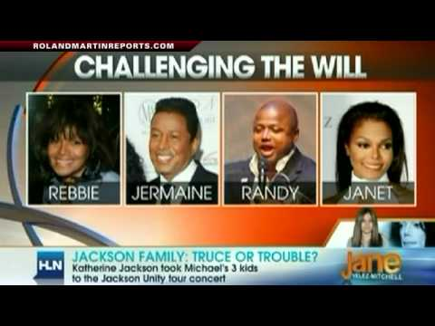 jackson family - Roland Martin, Jen Heger, Alan Duke and HLN's Jane Velez-Mitchell discuss the latest developments in the Jackson family drama, the Jackson siblings attemptin...