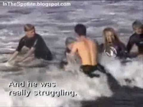Surfing Shark Attack with Two Great White Sharks (4.5 meters) – www.2besaved.com