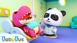 Video Doctor Panda Cures Baby Dinosaur's Toothache | Doctor Pretend Play | Kids Song | BabyBus Cartoon MP3, 3GP, MP4, WEBM, AVI, FLV September 2018