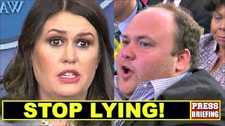 Video Reporter Surprises Sarah Sanders & calls her out for Iying MP3, 3GP, MP4, WEBM, AVI, FLV Juli 2018