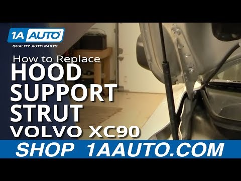 How To Install Replace Hood Support Strut Volvo XC90 03-12 1AAuto.com