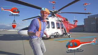Blippi Firefighting Helicopter   Learn Machines for Kids with Songs for Children