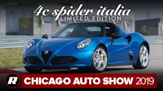 2020 Alfa Romeo 4C Spider Italia will be an uncommon sight | Chicago 2019 by Roadshow