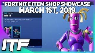 Fortnite Item Shop *NEW* BENDIE AND TWISTIE SKINS! [March 1st, 2019] (Fortnite Battle Royale)