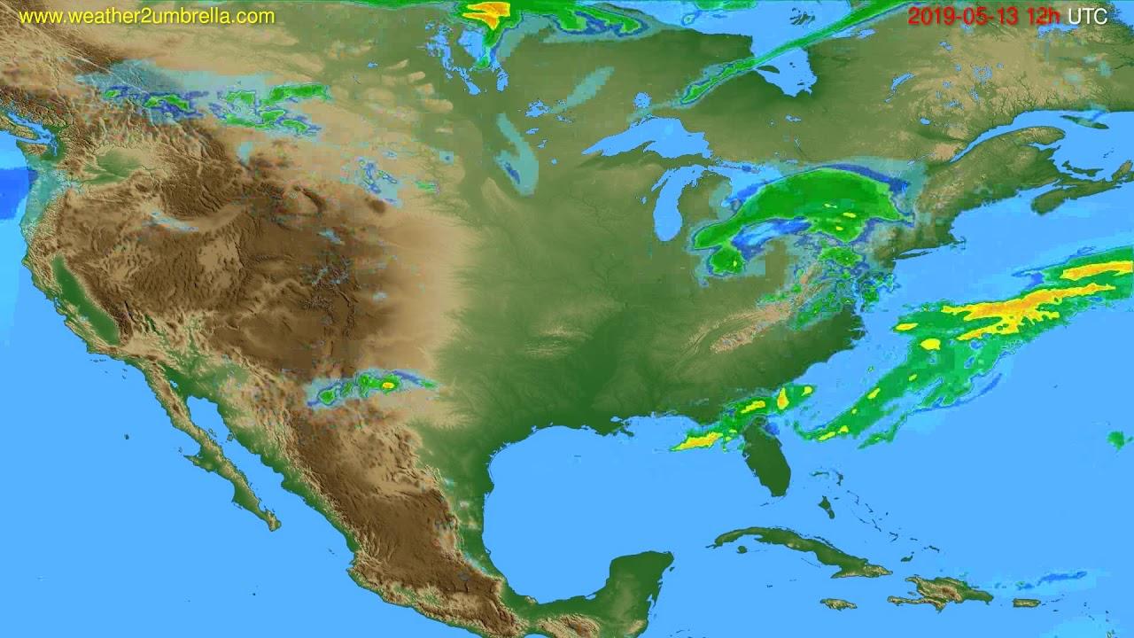 Radar forecast USA & Canada // modelrun: 00h UTC 2019-05-13