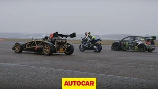7. Ariel Atom V8 vs 600bhp rallycross Citroen DS3 vs BMW HP4 superbike drag race - autocar.co.uk