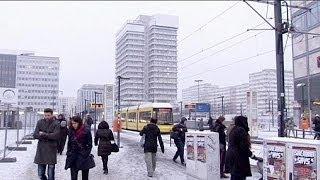 Berlin'e sonunda kış geldi