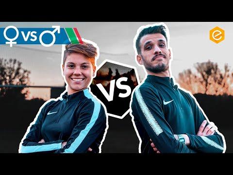 Calcio FEMMINILE vs MASCHILE - Sfida e intervista a Manuela GIUGLIANO