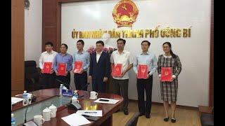 TP Uông Bí: công bố các quyết định về công tác cán bộ