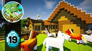 Transform a Minecraft Village into a Town E19 - Stables!