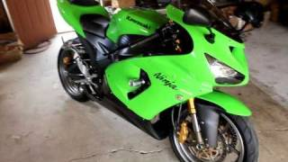 6. 2006 Green Kawasaki Ninja 636 ZX-6R zx6r For Sale