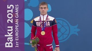 Russian One-Two in the Men's 1m Springboard | Diving | Baku 2015 European Games