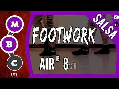 👟Salsa Footwork Tutorial ★Advanced★ AIR ᴮ 8 (Air Walk)★ On1 & On2 (♫) | #MBCfootwork