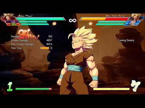 DBFZ teen gohan post patch Mid screen BNB study Dumb reach bomb loop
