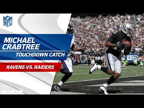 Video: EJ Manuel Scrambles & Finds Michael Crabtree for the Long TD! | Ravens vs. Raiders | NFL Wk 5