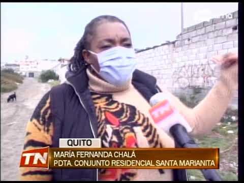 Moradores de Calderón piden habilitar una calle y activar cámara de vigilancia