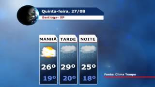 Locução Tiago Cristiano - Previsão do Tempo, para está quinta-feira em Bertioga. fonte de informações Clima Tempo ...