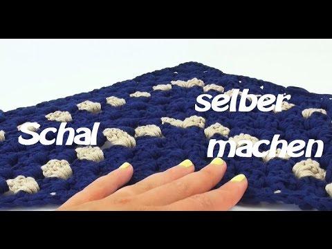 Schal häckeln Dreieckstuch – DIY Schal für Übergangszeit