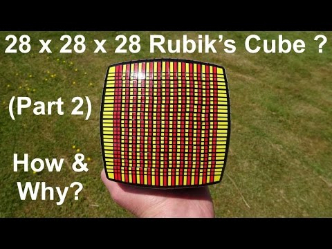 28 x 28 x 28 Rubik's Cube Puzzle ? (part 2) How & Why ?