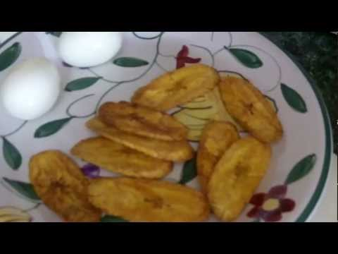 Caribbean Recipe: How to Make Boiled Eggs and Fried Green Plantain