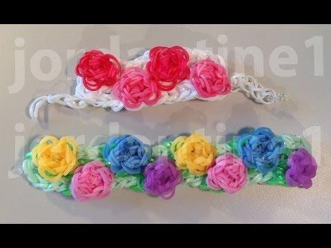 Цветы для резинок видео