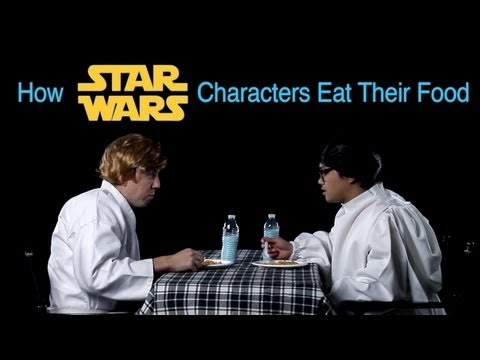 How Star Wars Characters Eat Their Food How Animals Eat Their Food