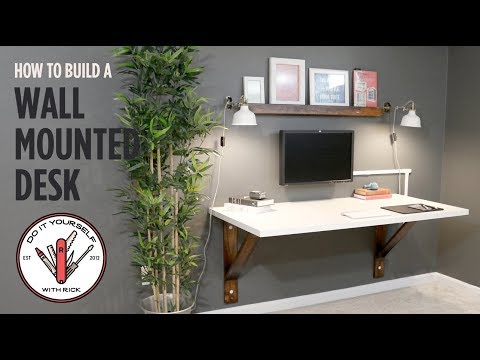 build a wall mounted desk (видео)