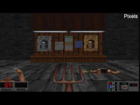 Старые компьютерные игры MS-DOS для 3dfx Voodoo: BLOOD - 1997 год.