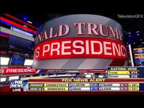 TV Networks announce Trump wins 2016 election