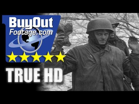 HD Historic Stock Footage WWII BATTLE OF THE BULGE - SIEGE OF BASTOGNE
