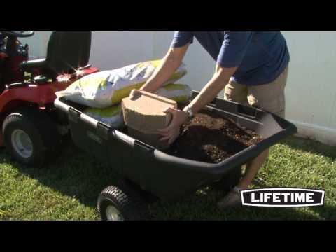 Lifetime Gartenkarre / Transportanhänger XXL Produktvideo  | ENGLISCH | Clemens HobbyTec