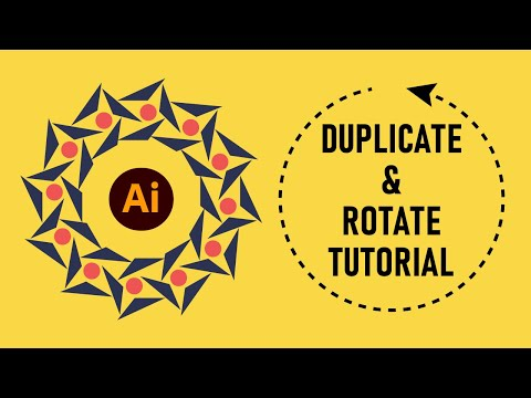 How To Duplicate & Rotate Objects Precisely In Illustrator | Tutorial