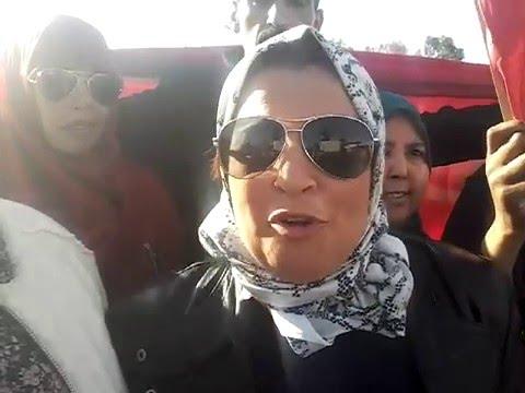 الفاعلة الجمعوية بالعوامرة نوال برهوم تصرح ل''الخبر الآن'' خلال مسيرة الرباط