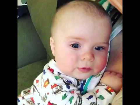 "Baby sneezes and says ""Oh no"""