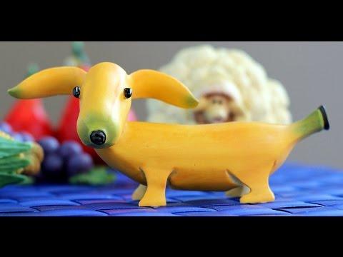 Papero di Banana che cammina con rotelle di Carota ♥ VIDEORICETTA