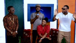 Basketmouth Shows Dammy Krane And D'prince How To Toast A Babe Featuring Chioma Chukwuka